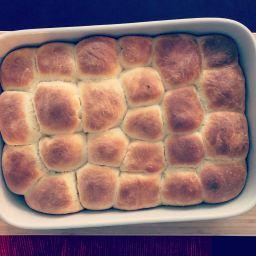 """Sweet yeast buns (""""buchty"""" in Czech)"""