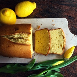 Lemon and sour cream cake