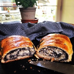 Czech poppy seed roll